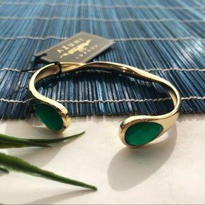Jewelry - Azuni London 18k gold plated Green onyx bracelet